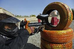Afganistan'da paintball keyfi